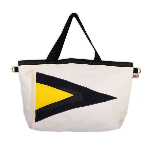 Nautical Flag Tote in White by Ella Vickers