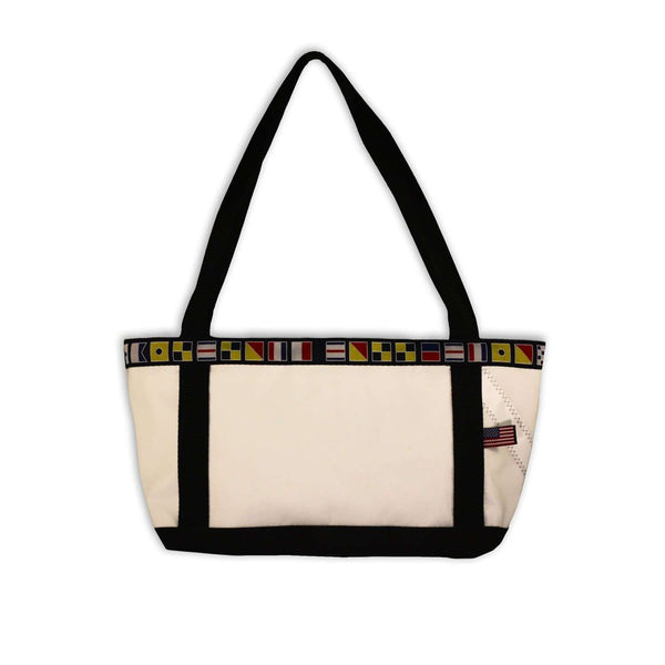 Newport Handbag in White with Red Trim by Ella Vickers