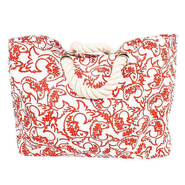 Red Fish Beach Bag by Hiho - FINAL SALE