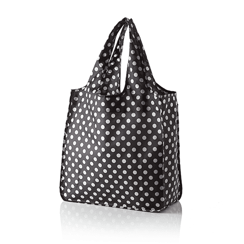 Tote Bags - Reusable Shopping Tote In Black With Dots By Kate Spade New York - FINAL SALE