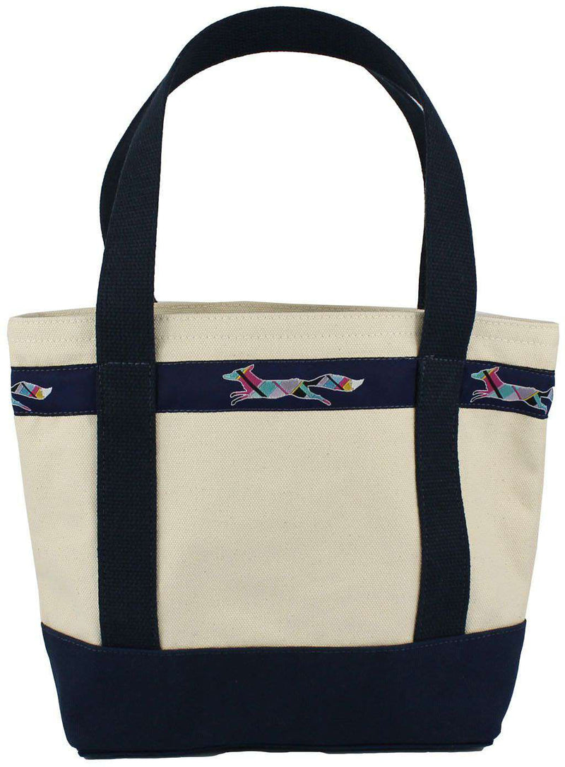 Small Longshanks Tote Bag in Natural Canvas by Country Club Prep