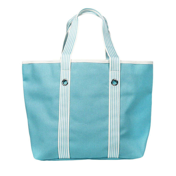 Summer Striped Large Tote in Marine Blue and White by Lacoste