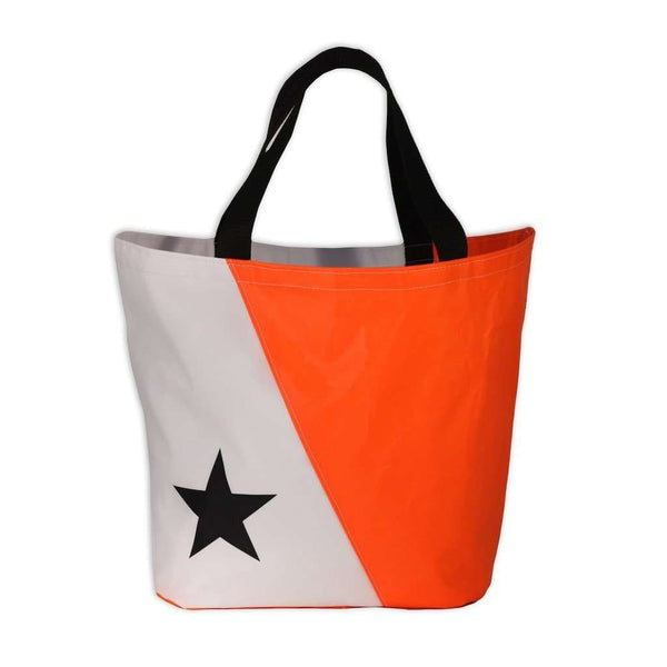 The Abaco Bag in White and Orange by Ella Vickers