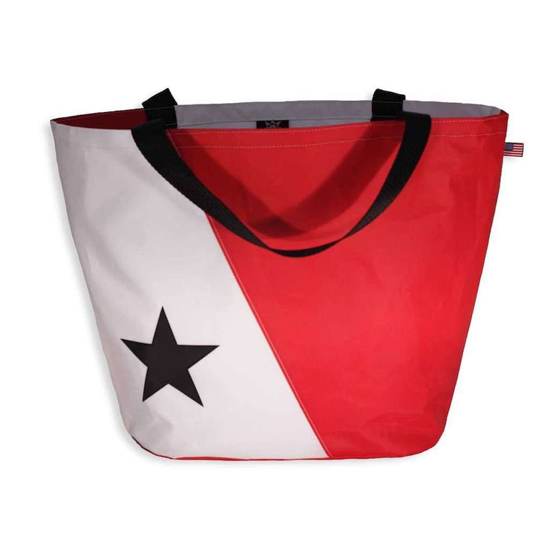 The Abaco Bag in White and Red by Ella Vickers