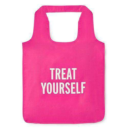 """Treat Yourself"" Reusable Shopping Tote in Pink by Kate Spade New York"