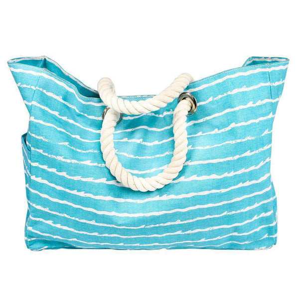 Turquoise Wave Beach Bag by Hiho - FINAL SALE