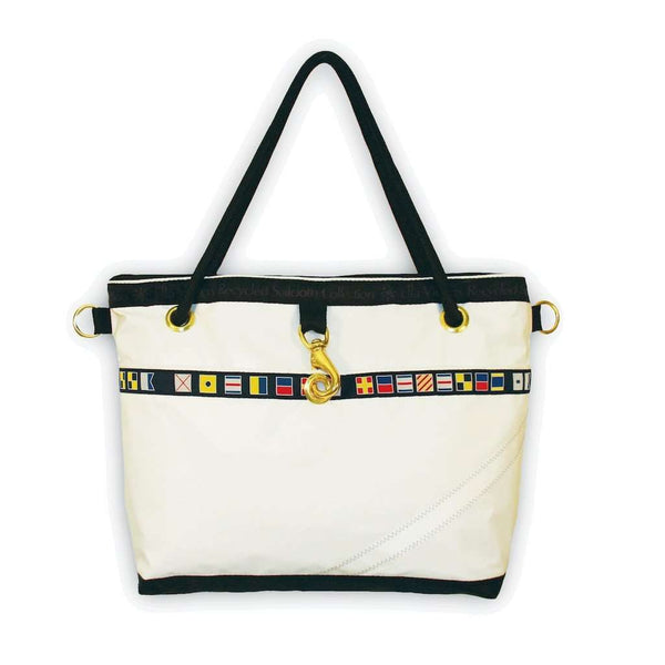 Venice Bag in White with Random Number by Ella Vickers