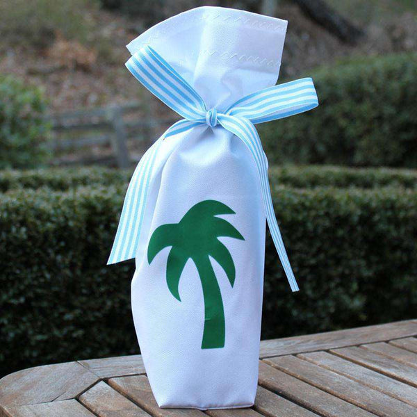 Wine and Spirit Bag featuring Green Palm by Skipper Bags
