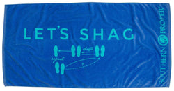 Towels - Let's Shag Beach Towel In Blue By Southern Proper