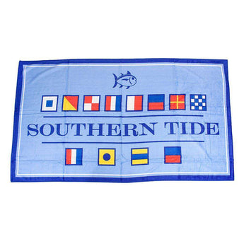 Towels - Nautical Flag Beach Towel In Ocean Channel By Southern Tide