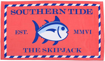 Towels - Skipjack Beach Towel In Coral Beach By Southern Tide