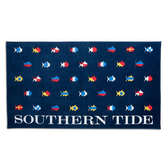 Towels - Skipjack Nautical Flags Beach Towel By Southern Tide