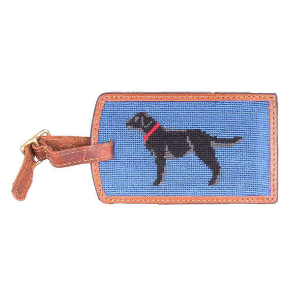 Travel & Gym - Black Lab Needlepoint Luggage Tag In Blueberry By Smathers & Branson