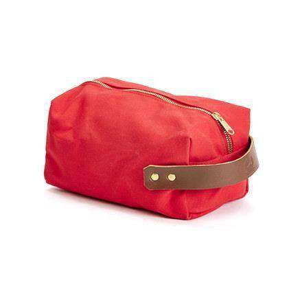 Travel & Gym - Duck Island Dopp Kit In Fire Red By Blue Claw Co.
