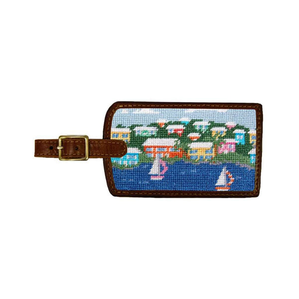 Travel & Gym - Island Time Needlepoint Luggage Tag By Smathers & Branson