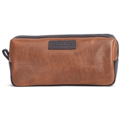 Travel & Gym - Jackson Toiletry Kit In Cognac American Bison By Trask