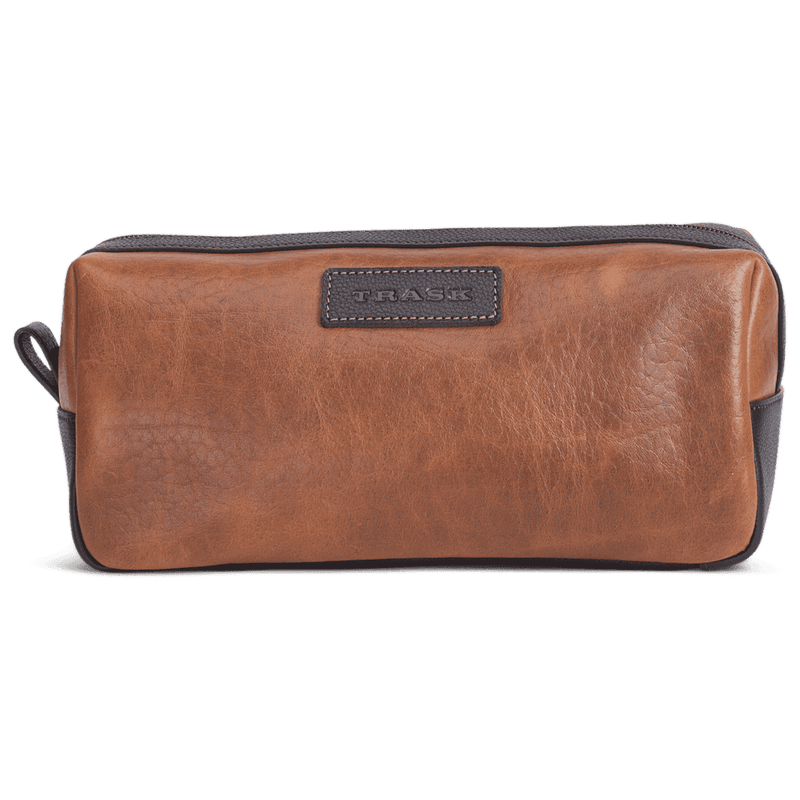 Jackson Toiletry Kit in Cognac American Bison by Trask