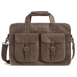 Jackson XL Zip Tote in Walnut American Steer by Trask