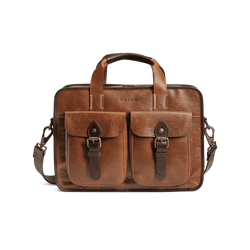 Jackson Zip Tote Bag in Cognac American Bison by Trask
