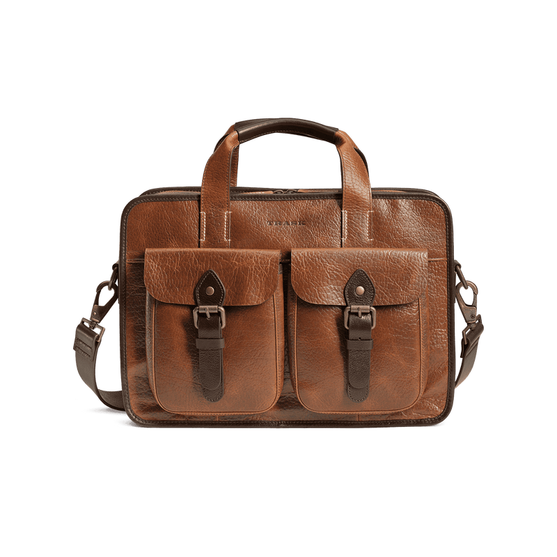 Travel & Gym - Jackson Zip Tote Bag In Cognac American Bison By Trask