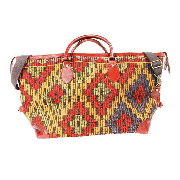 Travel & Gym - Kilim Weekender Bag In Aztec Red By Res Ipsa
