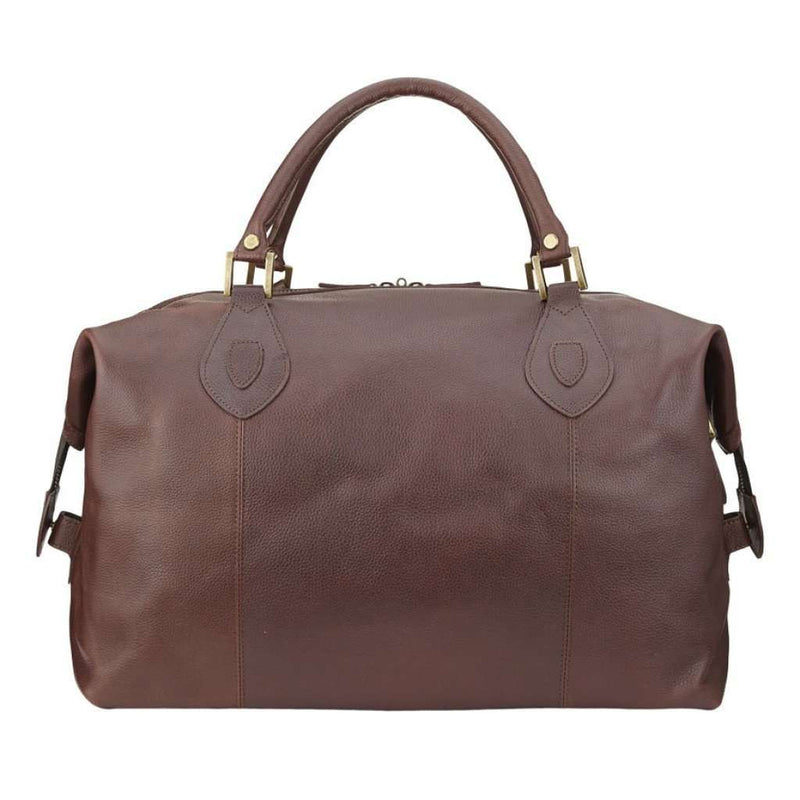 Travel & Gym - Leather Medium Travel Bag In Dark Brown By Barbour