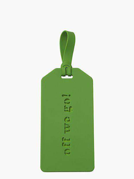 Travel & Gym - Off We Go Luggage Tag In Green By Kate Spade New York