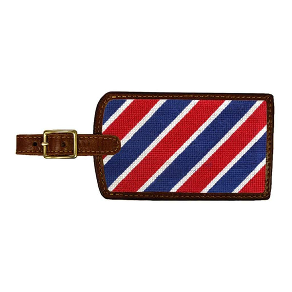 Patriotic Stripe Needlepoint Luggage Tag by Smathers & Branson