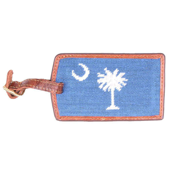 Travel & Gym - South Carolina Needlepoint Luggage Tag In Blueberry By Smathers & Branson