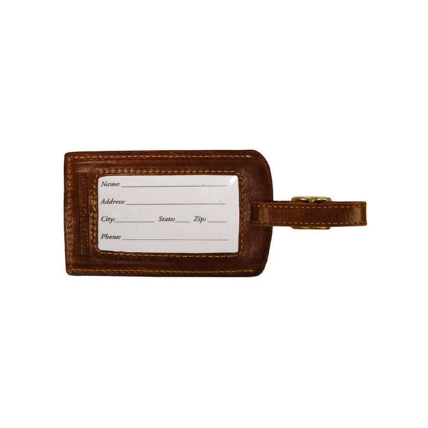 Summer Madras Needlepoint Luggage Tag by Smathers & Branson