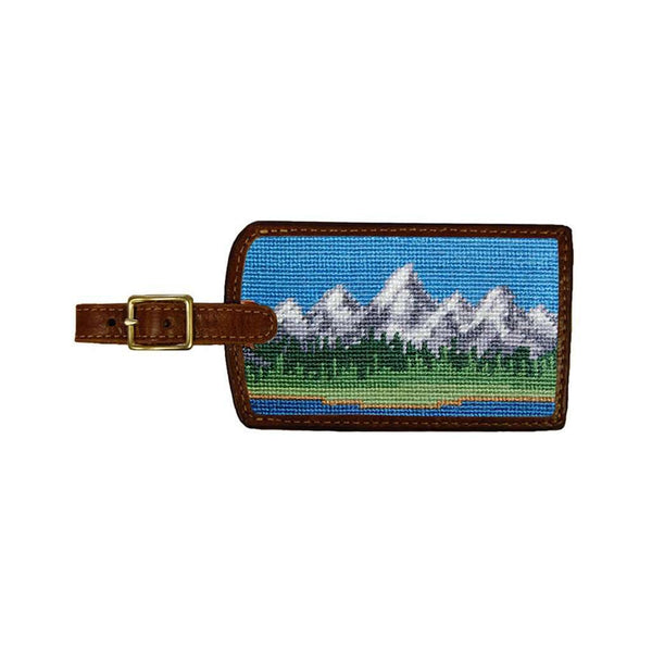 Travel & Gym - Tetons Needlepoint Luggage Tag By Smathers & Branson