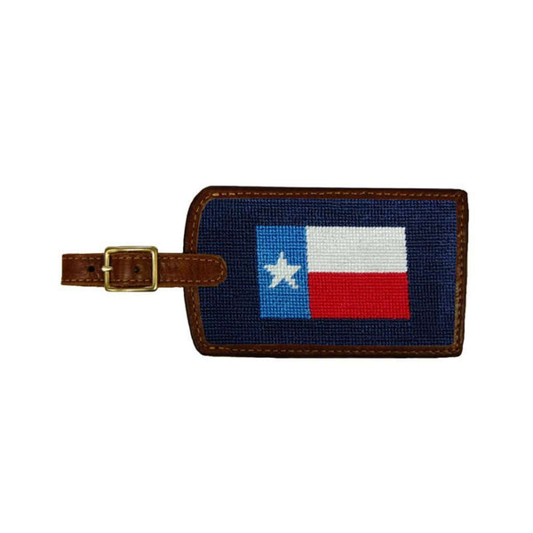 Texas Flag Needlepoint Luggage Tag by Smathers & Branson