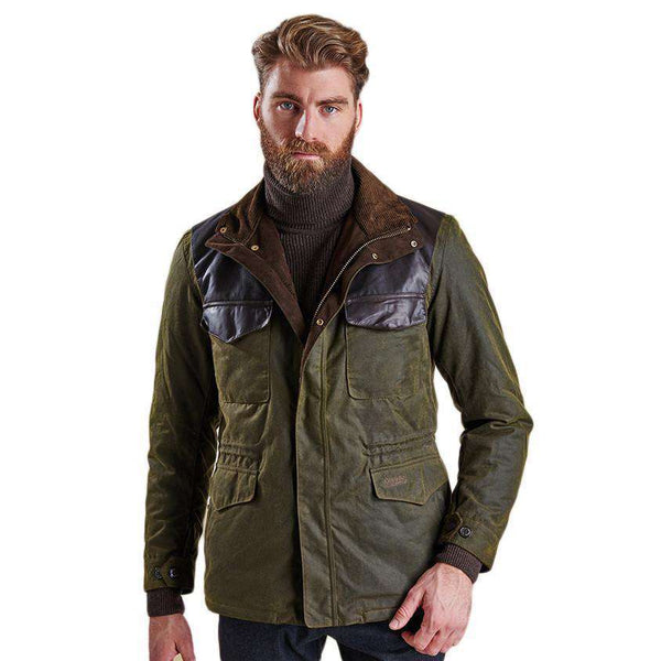 Traveller Wax Jacket in Olive by Barbour  - 1