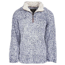 True Grit The Original Frosty Tipped Pile 1/2 Zip Pullover in Vintage Blue by True Grit