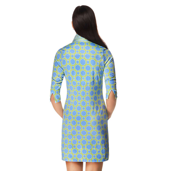 Turin Print Everywhere Dress in Periwinkle & Green by Gretchen Scott Designs - FINAL SALE
