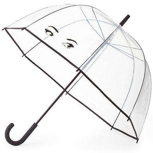 Umbrellas - Clear Umbrella In Winking Eyes By Kate Spade New York - FINAL SALE
