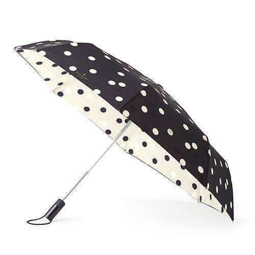 Umbrellas - Travel  Umbrella In Deca Dots By Kate Spade New York - FINAL SALE