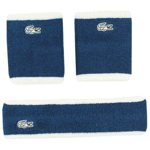 Sports Band Set in Monaco Blue and White by Lacoste - FINAL SALE