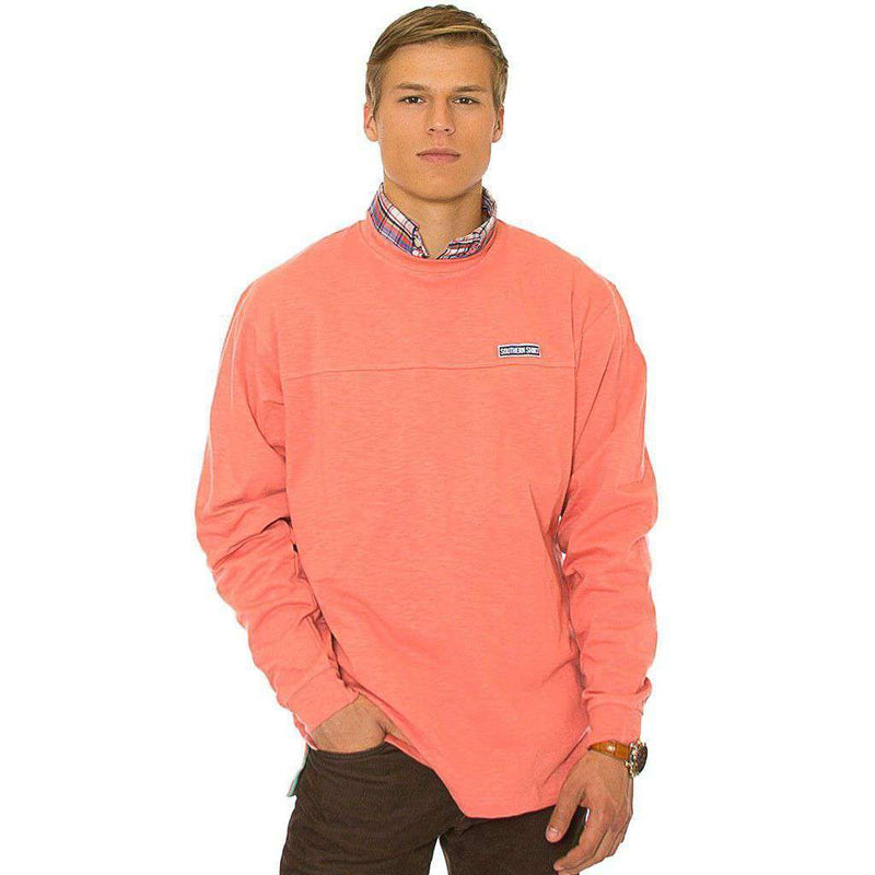 Unisex Sweaters - Cotton Club Pullover In Burnt Coral By The Southern Shirt Co.