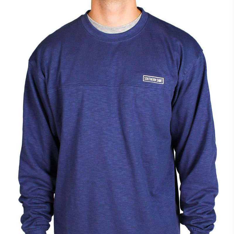 Unisex Sweaters - Cotton Club Pullover In Oxford Blue By The Southern Shirt Co. - FINAL SALE