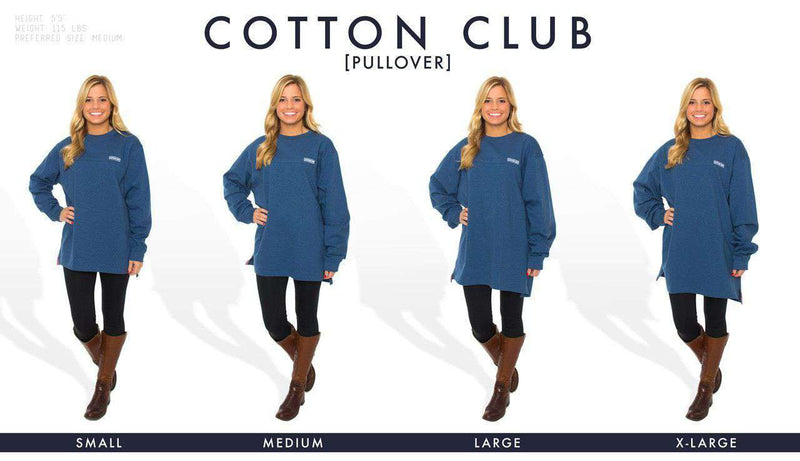 Cotton Club Pullover in Oxford Blue by The Southern Shirt Co. - FINAL SALE