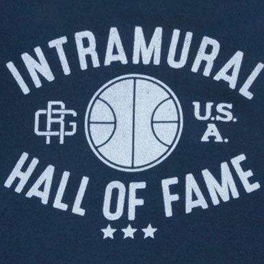 Intramural Hall of Fame Crewneck Sweatshirt in Navy by Rowdy Gentleman - FINAL SALE