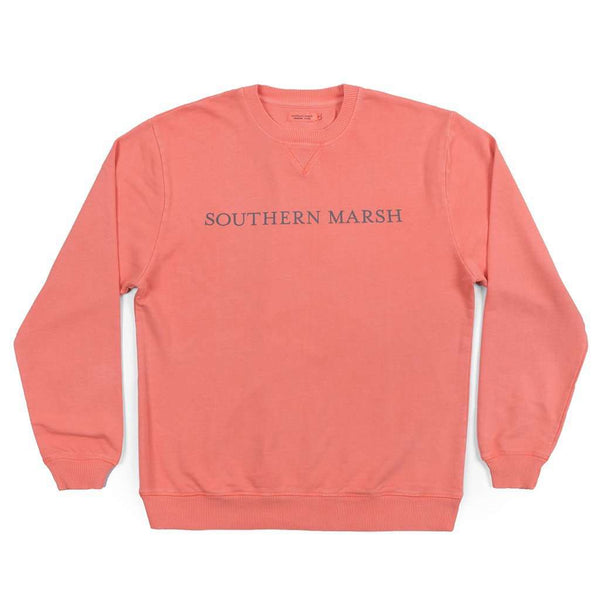 "Unisex Sweaters - SEAWASHâ""¢ Sweatshirt In Coral By Southern Marsh - FINAL SALE"