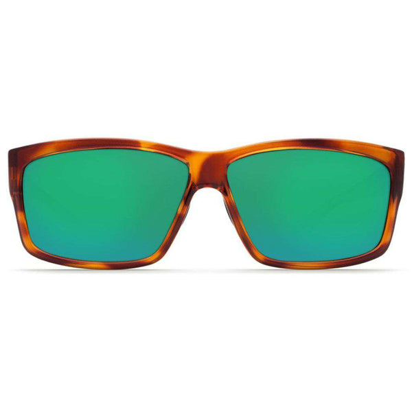 Cut Sunglasses in Honey Tortoise with Green Mirror Polarized Glass Lenses by Costa del Mar