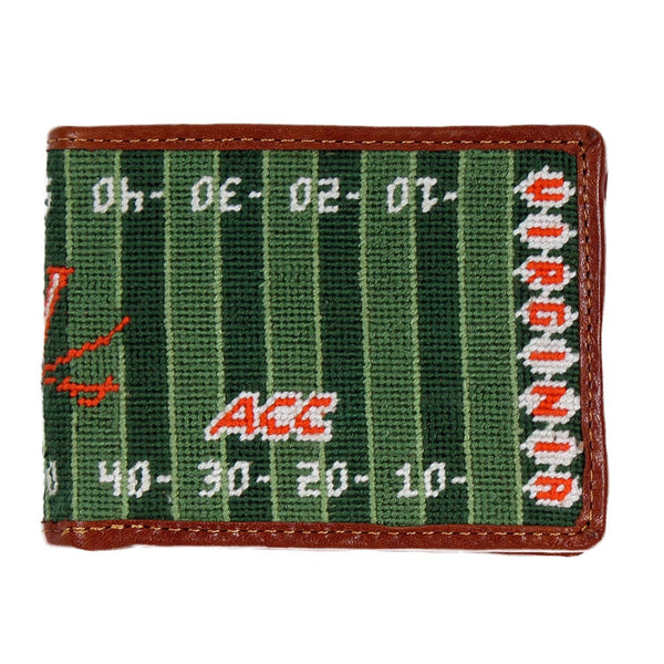 UVA Scott Stadium Needlepoint Wallet by Smathers & Branson