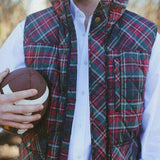 Varsity Vest in Red Tartan by Southern Proper  - 2