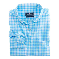 Classic Murray Performance Shirt in Ocean Beach Check by Vineyard Vines