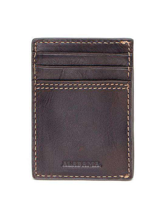 Wallets - Alabama Crimson Tide Gridiron Mulitcard Front Pocket Wallet By Jack Mason
