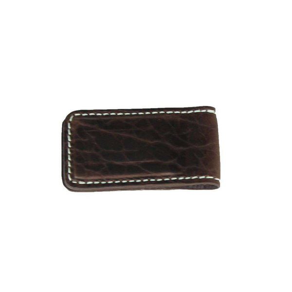 Wallets - Alexander Bison Money Clip In Briar Brown By T.B. Phelps
