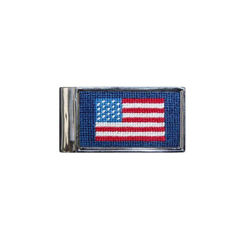 Wallets - American Flag Needlepoint Money Clip By Smathers & Branson